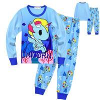 Children Clothes Kids Clothing Set Boys Pajamas Sets Unicorn Styling Nightwear Pajamas Girls Sleepwear Baby boy Christmas Pyjama