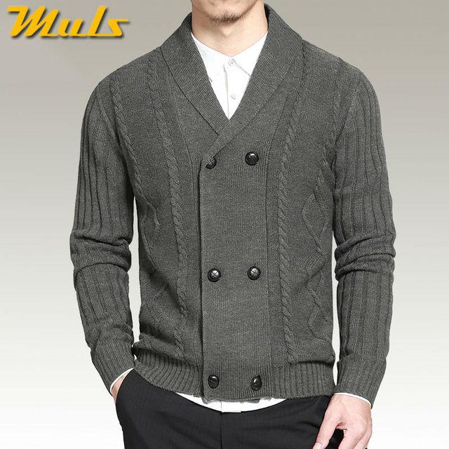 Muls sulla vendita di lana cardigan uomo maglione doppio petto giacca di  maglia autunno inverno maglione e0820b72f8a