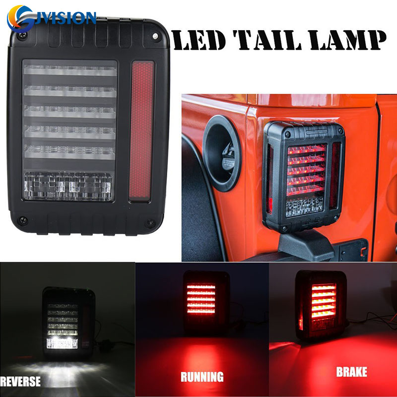 Car Styling LED Tail light Brake Turning Signal Assembly Reverse Lamps for 07-16 Jeep Wrangler JK USA & European Models high quality new generation led car rear taillights tail lamps for jeep wrangler jk play and plug