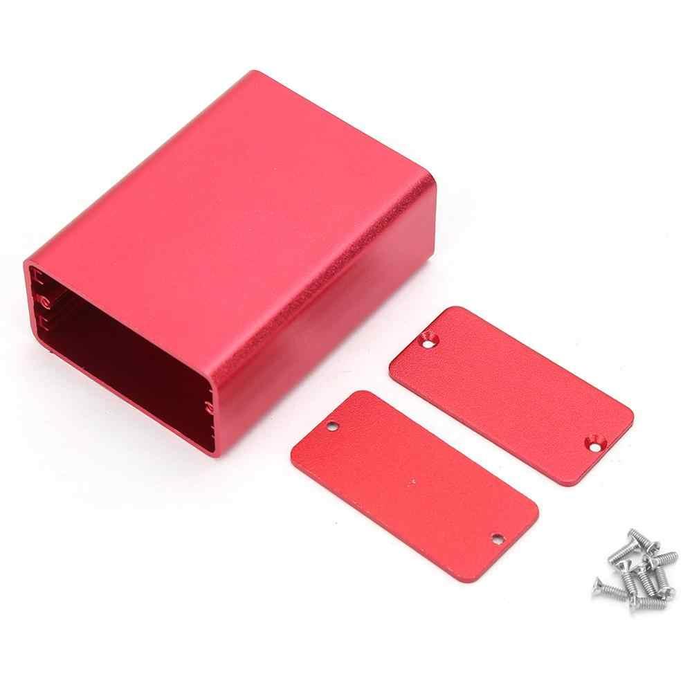 Boîtier de projet électronique, boîtier en aluminium extrudé, Instrument pour PCB, boîte de jonction, boîtier de bricolage, boîtier rouge givré