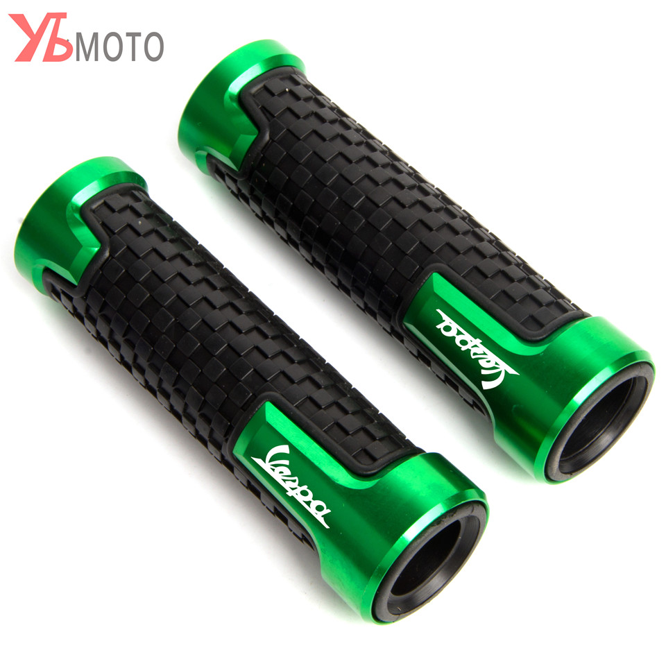 Flash Deals Fashion Accessories 22mm 7/8'' Brand New Motorcycle Anti-Skid Handle Grips grips handlebar FOR Piaggio Vespa GTS 300 15