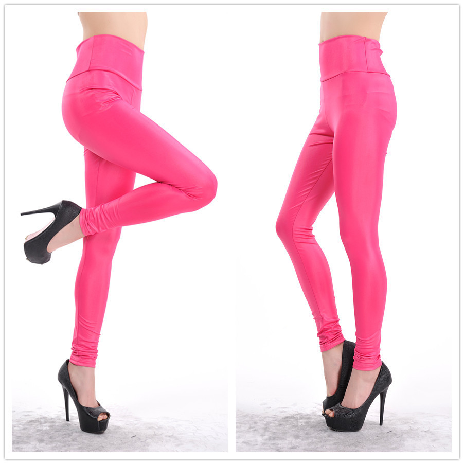 best quality for undefeated x sale online US $7.68 8% OFF|Women Leggings Europe Colorful Big Size High Waist Matte  Imitation Faux Leather Leggings Women Pants LG 1487-in Pants & Capris from  ...