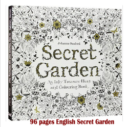 96 pages english secret garden coloring books for adults kids relieve stress kill time graffiti painting.jpg 250x250