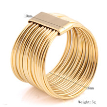 2017 New Arrival Female Luxury Genuine Stainless Steel Jewelry Gold Plated Multilayer Wedding Rings For Women