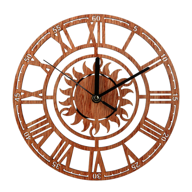 rustic kitchen clock plastic containers vintage wooden wall shabby chic home antique watches decor