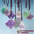 crystal eight face natural necklace pendant fluorite mineral crystal specimens of odd stone to send the rope