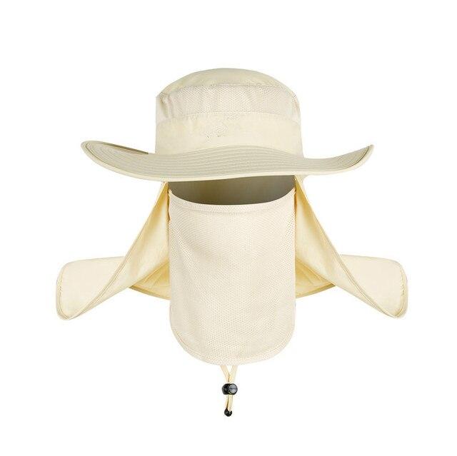 30576218456 2018 New Summer Wind-proof Sun Hats SPF 30+ UV Protection Fishing Hat  Fisherman