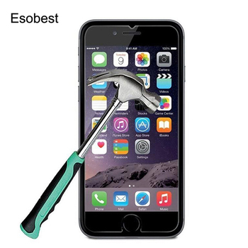 10pcs Anti-Shock Glass film For iPhone 6 6s 7 Plus 5 5s se 4 4s screen film for iphone 8 plus X tempered glass screen protector
