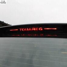 Наклейки и наклейки из углеродного волокна с высоким креплением стоп-сигнал, светильник для автомобиля для VW Volkswagen 2011- Touareg
