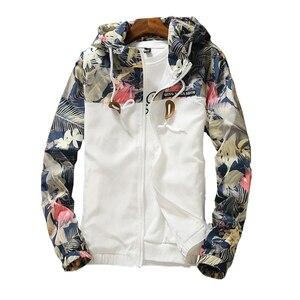 Image 1 - Chaquetas con capucha para mujer, chaqueta cortavientos informal Floral para primavera y otoño del 2020, chaquetas básicas y abrigos chaquetas ligeras con cremallera para mujer