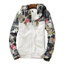 여성용 후드 자켓 2021 봄 가을 꽃 인과 윈드 브레이커 여성 기본 자켓 코트 지퍼 경량 자켓 Famale