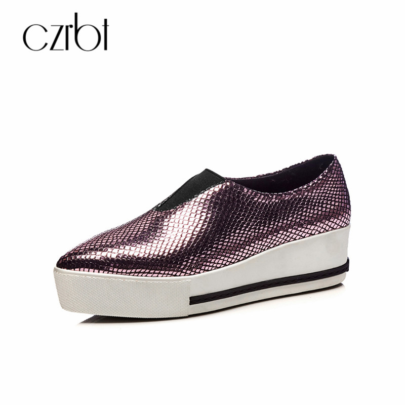CZRBT High Platform 5.5cm Womens Summer Shoes Flat Sequined Cloth Spring Loafers Slip On Breathable Pointed Toe Casual Shoes cresfimix women cute spring summer slip on flat shoes with pearl female casual street flats lady fashion pointed toe shoes