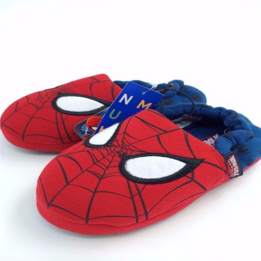 Spring Autumn Winter Cartoon Spiderman House Slippers Warm Soft Indoor Floor Slippers For Boy Girls Kids Cartoon Shoes Kid Gifts