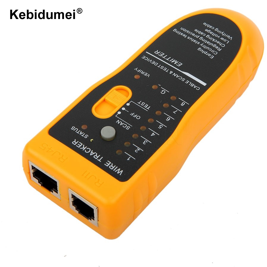 Kebidumei Rj11 Rj45 Cat5 Cat6 Telephone Wire Tracker Tracer Toner Bnc Network Lan Tv Cable Electric Finder Tester Getsubject Aeproduct