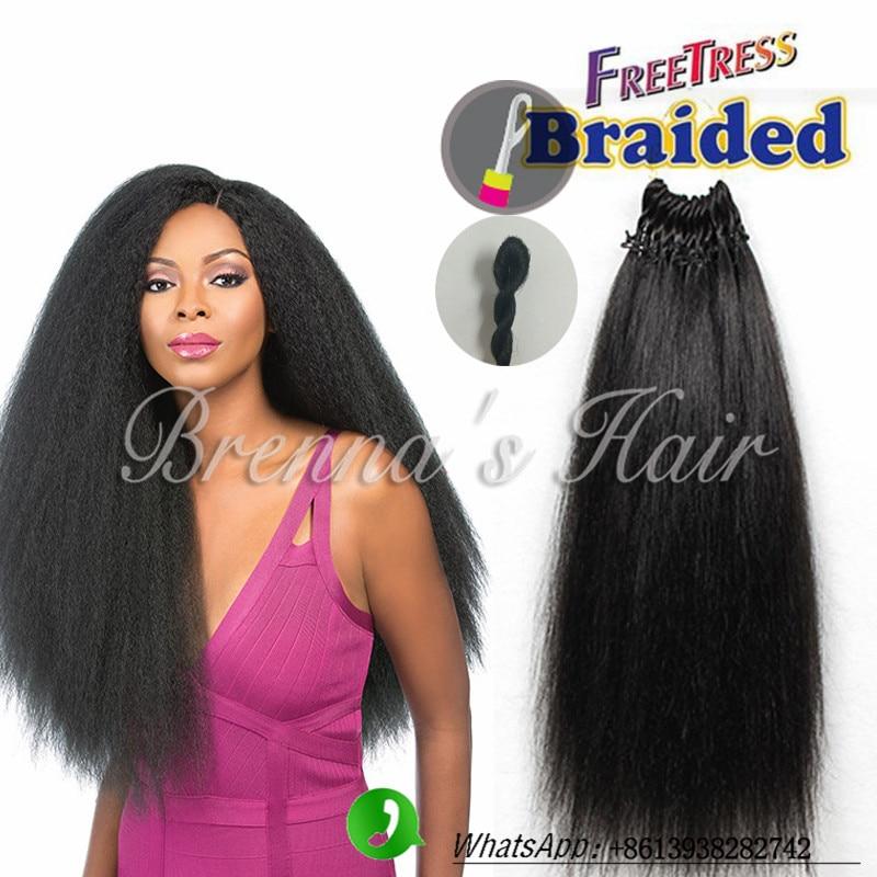 Best Synthetic Hair Pre Loop Hair Kinky Yaki Straight Hair
