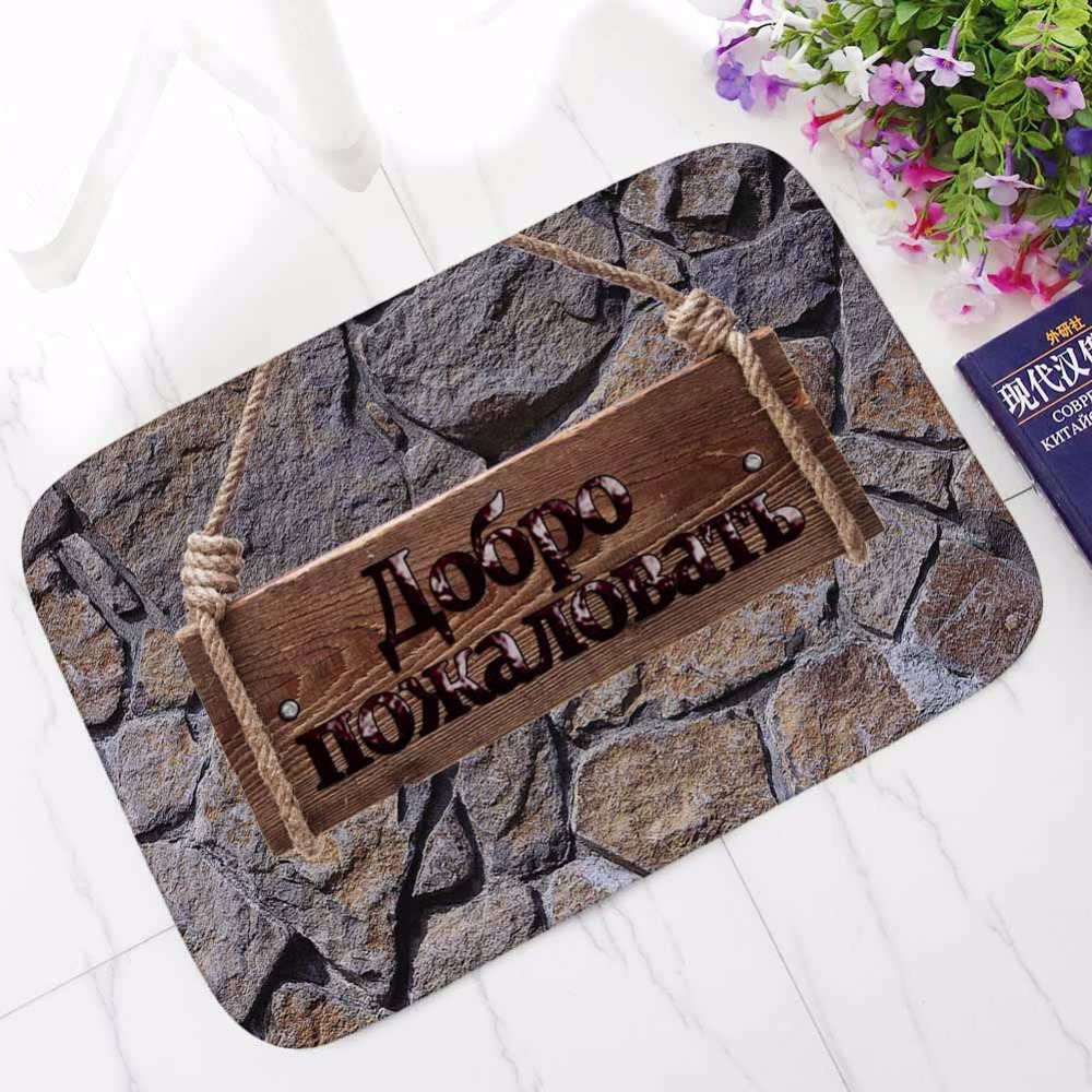 Image 4 - CAMMITEVER Black Russian Tapetes Arrival Departure Outdoor Entrance Rugs for Home Living Room Carpet Floor Door Bath Mat-in Rug from Home & Garden