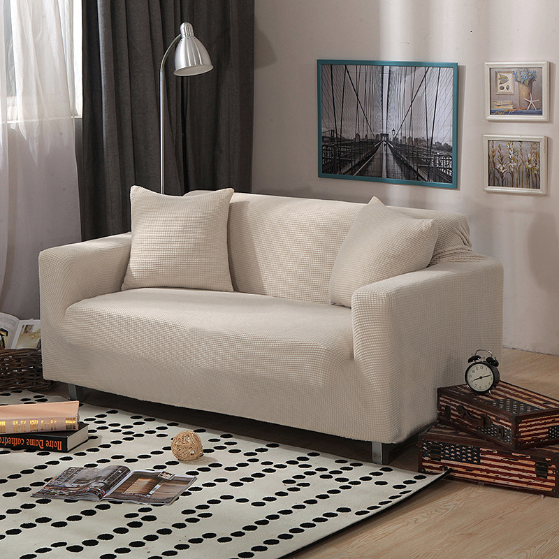 Sofa Cover Living Room Solid Sectional Sofa Covers Elastic Couch Cover Home Decor Fundas Sofa Slipover