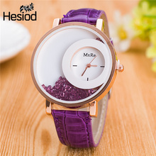 New Fashion Leather Strap Women Rhinestone Wrist Watches