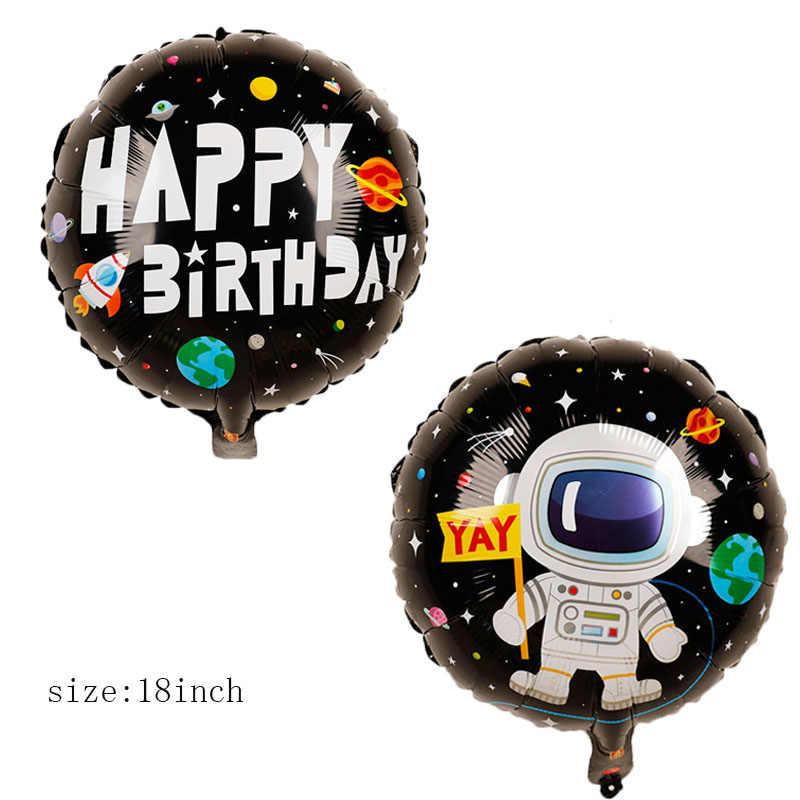 Balões Folha Partido Astronauta Espaço Foguete Galaxy/Sistema Solar do Partido Do Tema Do Menino Crianças Decoração da Festa de Aniversário Favores
