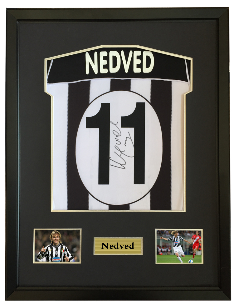 wholesale dealer 91dbb 39405 Pavel Nedved signed autographed soccer shirt jersey come ...