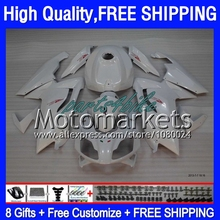 8Gifts+ For Aprilia RS125  06 07 08 09 10 11 Pearl White 6KM79 RS 125 RSV125 RS4 125 2006 2008 2009 2010 2011 White Fairing