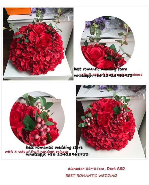 Grande Fleur Boule Rouge Rose Et Fleur D Hortensia Table Maitresse