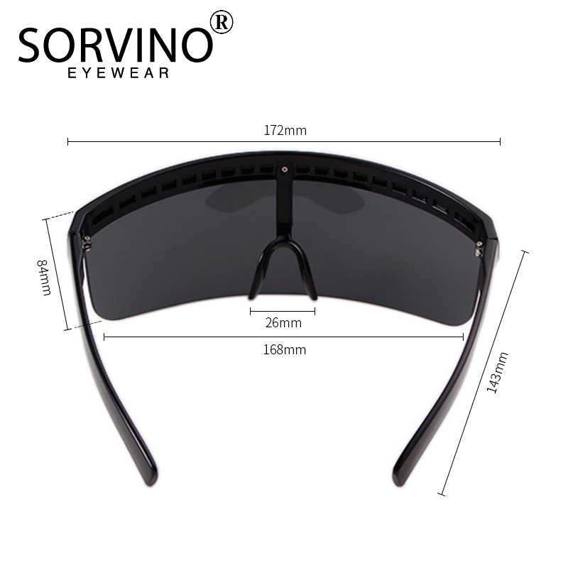 65b30d4f253 ... SORVINO Oversized Visor Shield Sunglasses Women Men Brand Designer Hood  Eyeglasses Big Flat Top Mask Sun ...