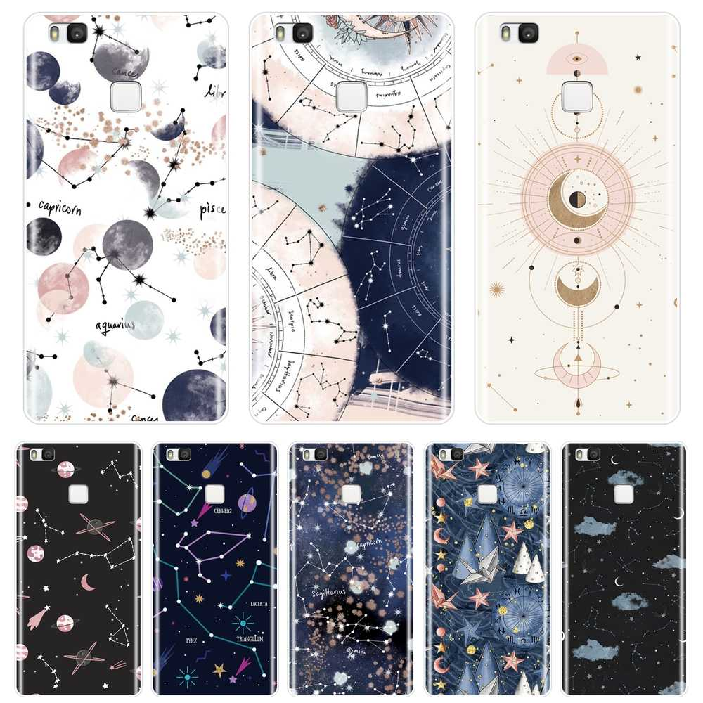 Back Cover For Huawei P8 P9 Lite Mini 2017 Soft Silicone Art Star Space Phone Case For Huawei P20 Lite Pro P9 P10 Plus P Smart