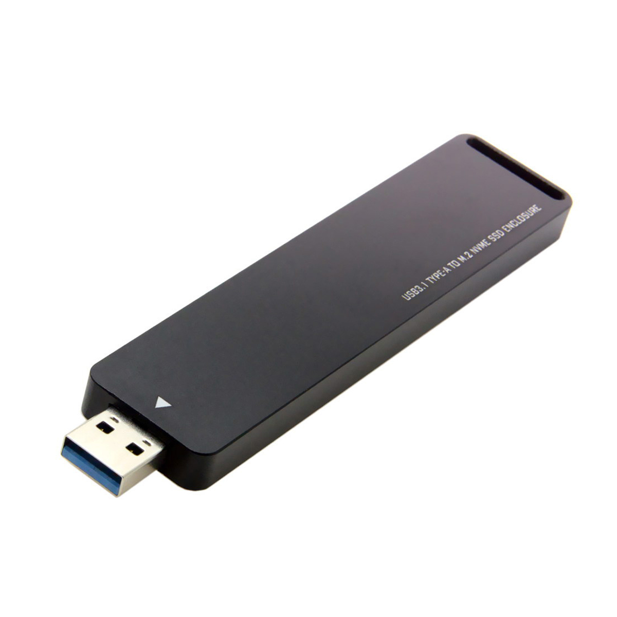 SSD Case NVME To USB Adapter 10 Gbps Usb 3.1 Gen 2 M.2 PCIE SSD To Type A Card No Cable Needed USB To M2 Solid State Drive Key M