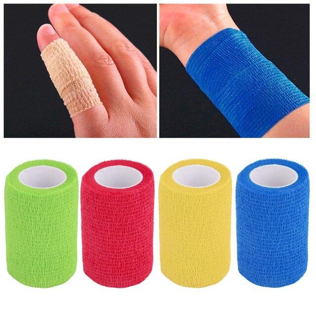 4.5m x 7.5cm Self-Adhering Bandage Wraps Elastic Adhesive First Aid Tape free shipping