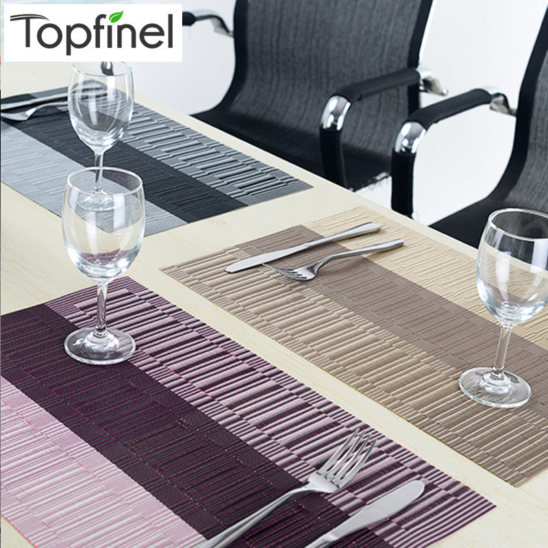 top finel set of 8 pvc kitchen dinning bamboo table placemats for table mat manteles individuales - Kitchen Table Mats