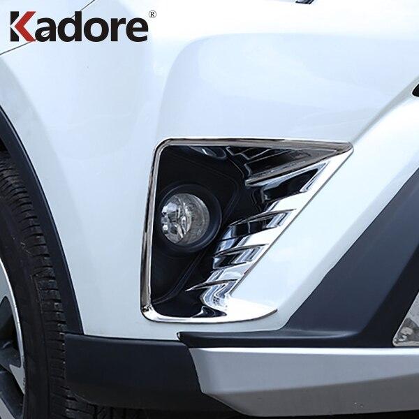 Für Toyota RAV 4 RAV4 2016 2017 ABS Chrom Nebelscheinwerfer Abdeckung Verkleidung Nebelscheinwerfer Rahmen Abdeckung Aufkleber Dekoration Auto Styling 2St