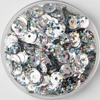4000pcs(50g) Laser Light Silver Color Shiny 6mm Cup Round Loose Sequins  Paillettes Sewing d5b6d6bc8e67