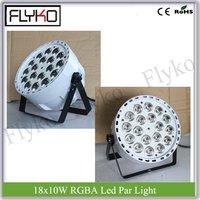 2pcs led par 18x10w white shell indoor par light RGBA stage dj light