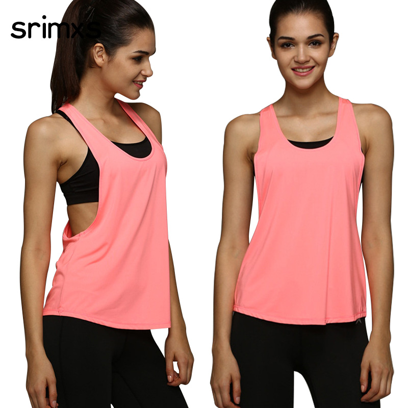 4 colors women sports shirt sleeveless breathable sport for Best fitness t shirts