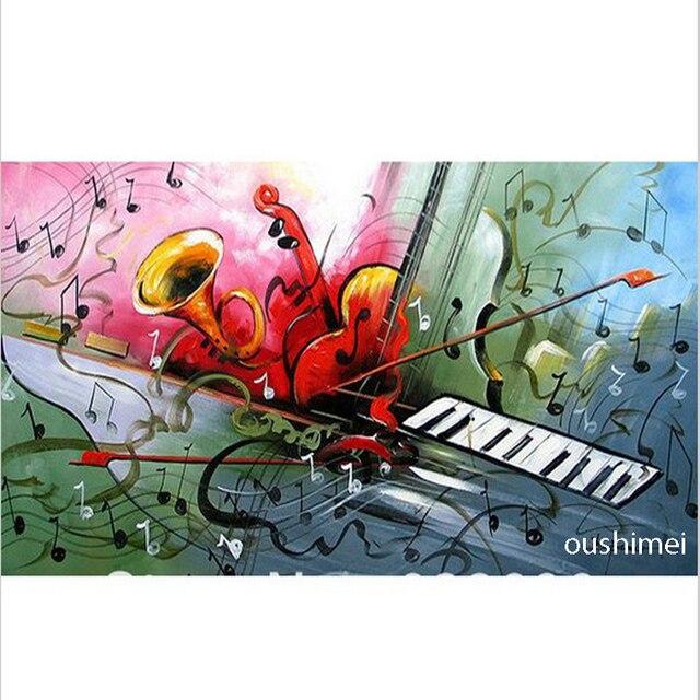 Main Moderne Musique Photos Sur Toile Groupe De Instrument De