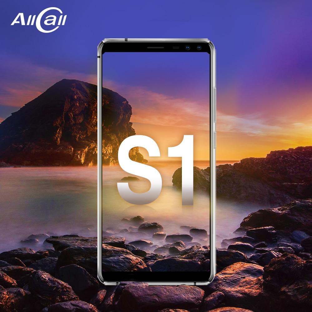 Allcall S1 MTK6580 Quad Core 2 gb 16 gb Android 8.1 18:9 5.5 pouce Quatre Caméra 8MP + 2 MPRear double-caméra 5000 mah 3g Smartphone