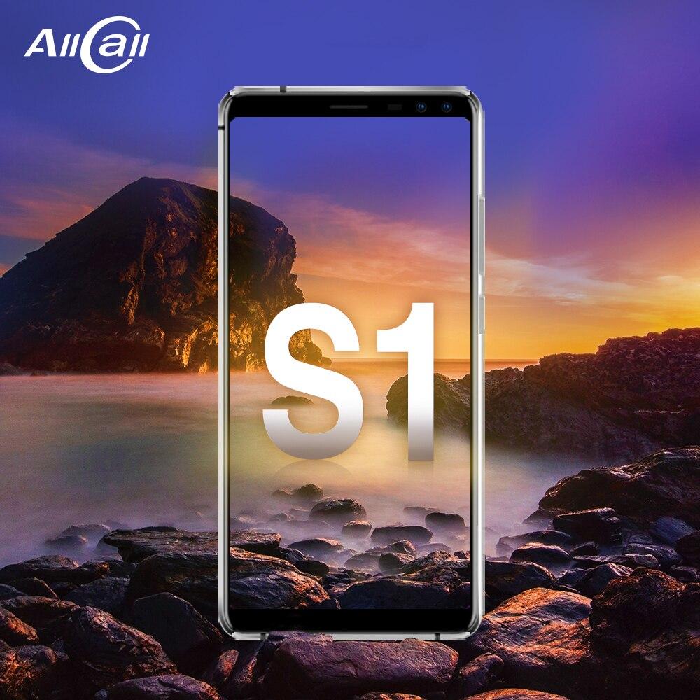 Allcall S1 MTK6580 Quad Core 2 gb gb Android 8.1 18:9 5.5 Polegada 16 Quatro Câmera 8MP + 2 MPRear dual-camera 5000 mah 3g Smartphones