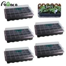 24 поддона для выращивания с куполом влажности и ячейками, набор лотков для выращивания семян
