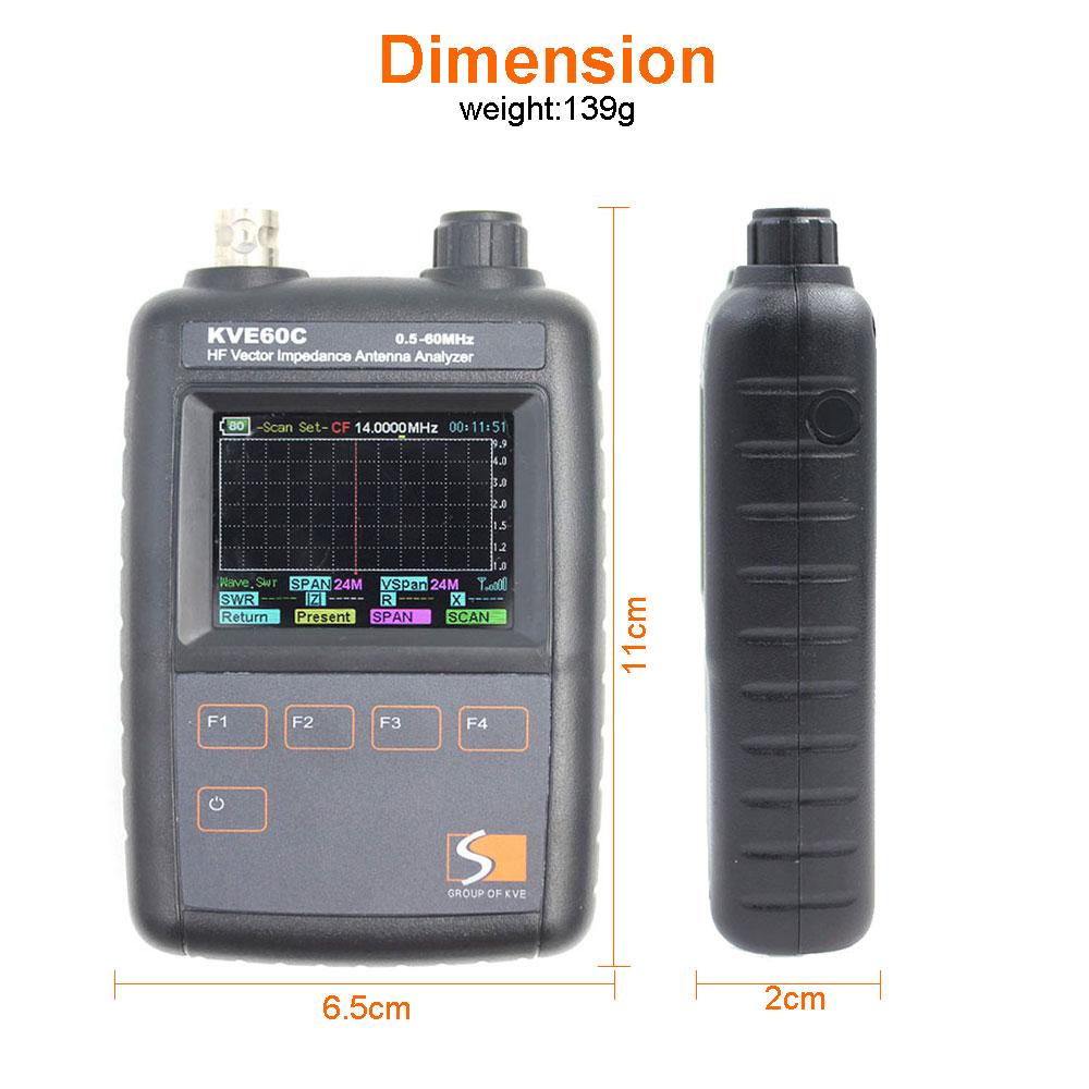 Ny HF Vector Impedance Antenna Analyzer KVE60c för walkie talkie - Kommunikationsutrustning - Foto 4