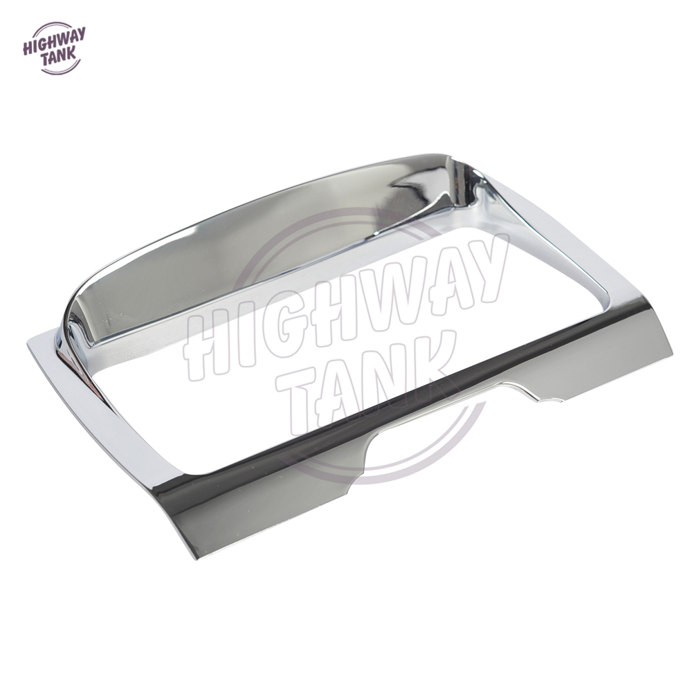 Chrome Motorcycle Tri-Line Stereo Trim Cover case for Harley 2014-2016 Electra Street Glide Tri Glides