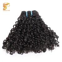 AOSUN HAIR Unprocessed 100% Brazilian Double Drawn Hair Weave Bundles Natural Virgin Double Drawn Pissy Curly Bundles 10 20 Inch