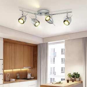 Top 10 most popular wall lamp spotlights ceiling light e27 brands nordic 1 6 pcs led track lamp chrome cob led downlight clothing wall guide lamp aloadofball Choice Image
