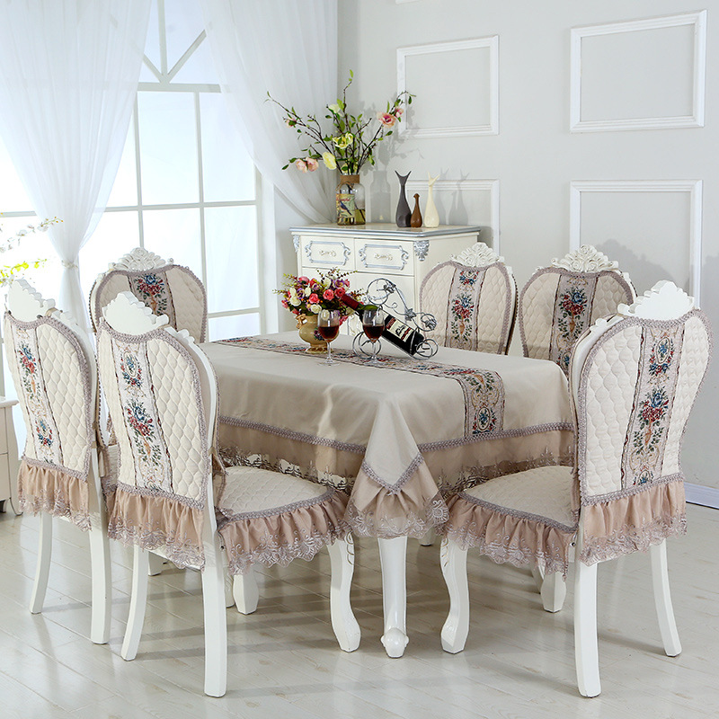 Dining Room Table Covers: Abbiemao Luxury Style Embroidered Table Cover And Chair
