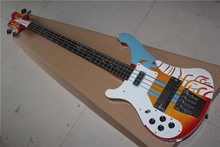 free shipping New Top Quality musical instrument Left Handed Custom Multi Color 4 Strings 4003 Rick Electric Bass Guitar 1117