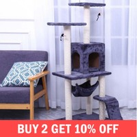 Cats Tree Furniture Scratch House Climbing Frame Jumping Toy With Ladder Kittens Home Pet Play Accessories Supplies Products