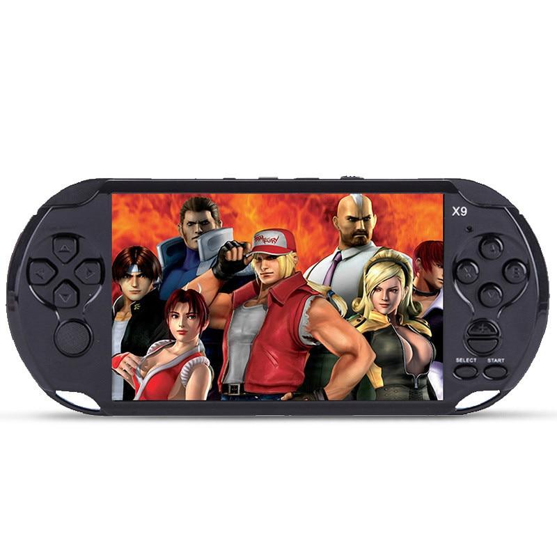 X9 Handheld Console Video Game console 5.1 Schermo di pollice Supporto TV uscita Con MP3 Film di sostegno Della Macchina Fotografica per GBA giochi arcade GBS
