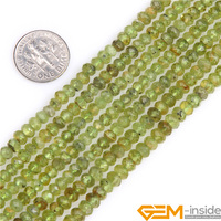 AAA Grade 3x4mm Rondelle Spacer Beads Natural Stone Beads For Jewelry Making Selectable Olivine Peridot Tourmaline