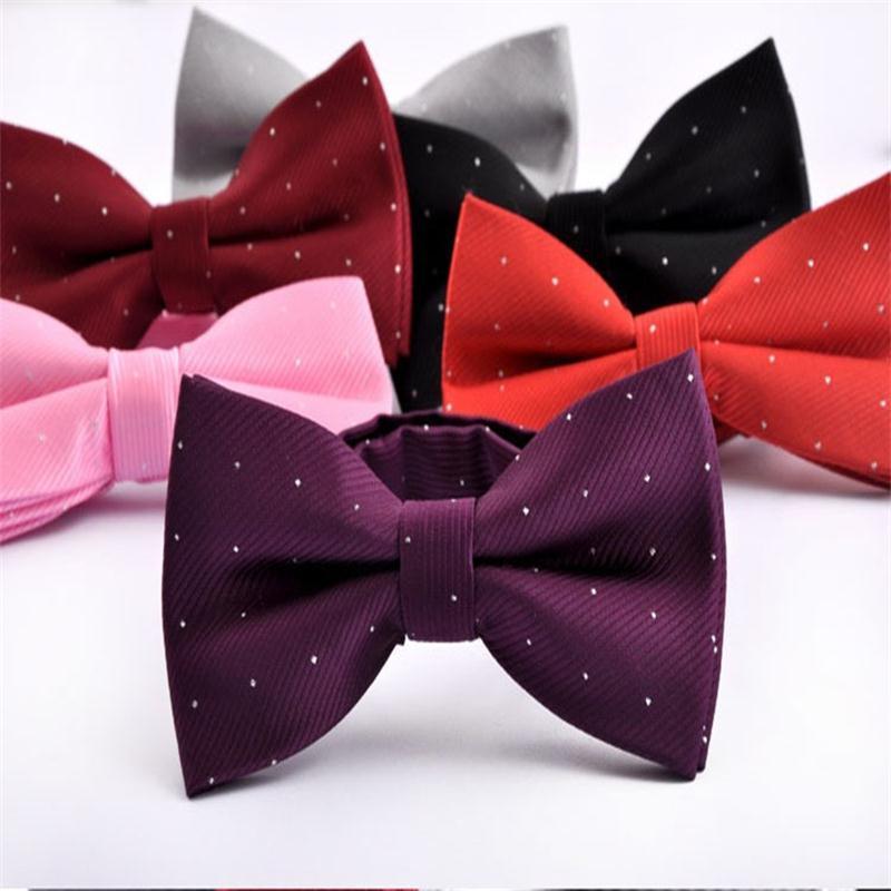 man bow tie silver dot bowknot mens butterfly suit accessories neckwear for men spot black bowtie 2pcs/lot