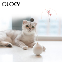Cat Supplies Automatic Cat Ball Toys Gift Cute Hairball Playing Toy For Puppy Cats Pet Training Chew Rattle Scratch Products